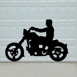 Biker Buddies Motorcycle Shadow Pattern