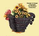 Chicken Flower Pot Woodcrafting Pattern