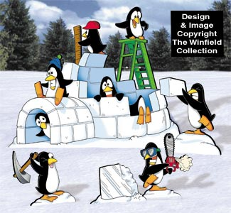Penguin Fun Pattern