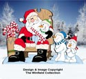 Santa With Snow Kids Pattern