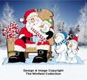 Santa With Snow Kids Pattern