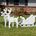 All-Weather Sleigh and Reindeer Display
