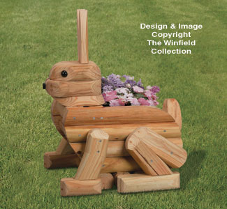 Landscape Timber Rabbit Planter Plan