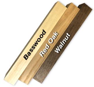 Basswood, Red Oak & Walnut Wooden Blocks