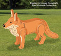3D Red Fox Pattern