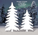 Snow Covered Pine Trees Pattern
