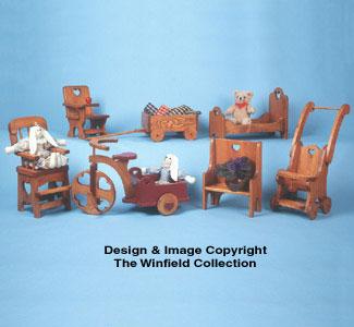 Doll Furniture Pattern Set #4