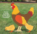 Giant Yard Hen & Chicks Pattern