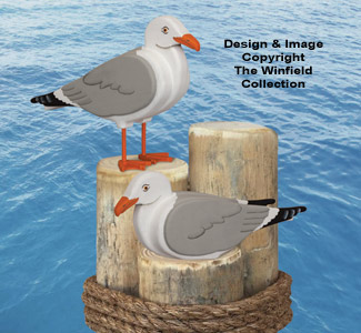 3d Animal Project Patterns 3d Life Size Seagulls Wood