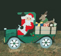 Santa In Old Truck Woodcraft Pattern