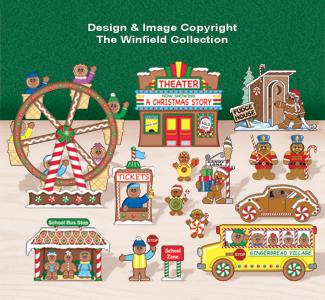 Tabletop Gingerbread Village #5 Pattern