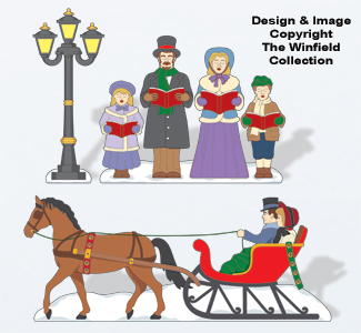 Christmas Village Victorian Christmas Pattern