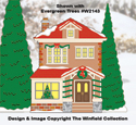 Christmas Village Auntie's House Color Poster