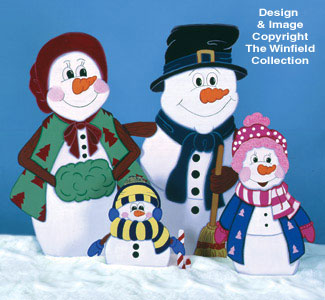 Snow Family Woodcrafting Pattern
