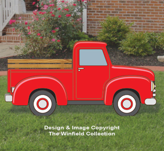 Large Size Red Truck Changeable Display Pattern