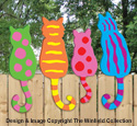 Colorful Fence Kitties Pattern