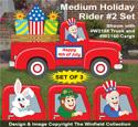 Medium Holiday Rider #2 Pattern Set