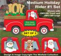 Medium Holiday Rider #1 Pattern Set