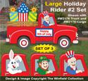 Large Holiday Rider #2 Pattern Set