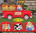 Large Summer Rider Pattern Set