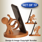 Music Character Cell Phone Stands Pattern Set - Downloadable