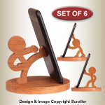 Character Cell Phone Stands Pattern Set - Downloadable