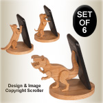3D Cell Phone Stands Pattern Set - Downloadable