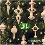Compound Cut Ornament Patterns - Downloadable