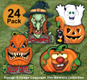 Halloween Plastic Yard Art 24 Pack