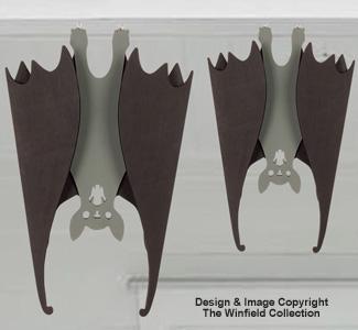 3D Hanging Bats Woodcraft Pattern
