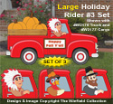 Large Holiday Rider #3 Pattern Set