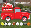 Large Red Truck Cargo #7 Pattern Set
