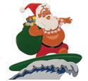 Santa Surfing Woodcraft Pattern