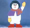 Giant Snowlady Woodcraft Pattern