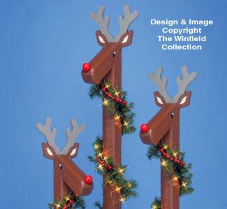 Reindeer Post Woodcraft Pattern