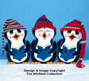 Caroling Penguins Woodcraft Pattern