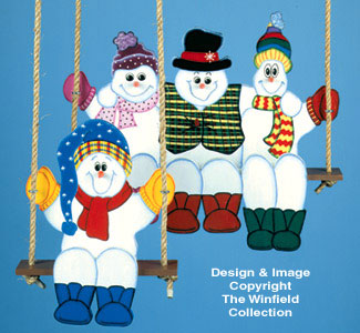 Swinging Snowmen Woodcrafting Pattern