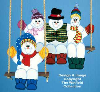 Swinging Snowmen Woodcrafting Pattern