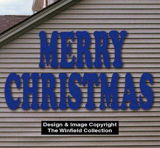 Holiday signs giant merry christmas woodcraft pattern for Christmas yard signs patterns