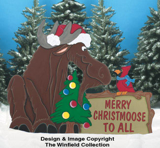 Christmoose Sign Wood Pattern