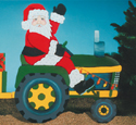 Santa Riding Tractor Woodcraft Pattern