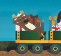 Reindeer in Tow Woodcraft Pattern