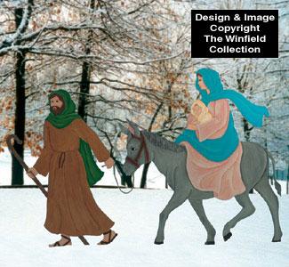 Fleeing To Egypt Woodcraft Pattern