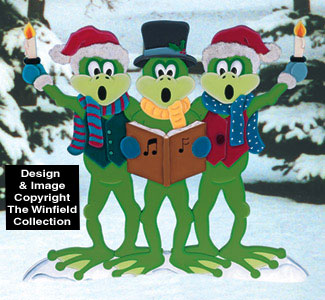 Caroling Frogs Woodcrafting Pattern