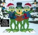 Caroling Frogs Woodcrafting Pattern