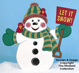 Snowmen Let It Snow Woodcrafting Pattern