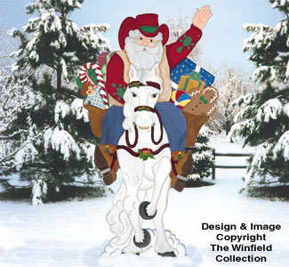 Cowboy Santa Woodcraft Pattern