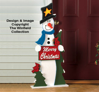Winter Greeting Woodcrafting Pattern