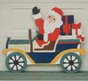 Santa in Old Car Woodcraft Pattern