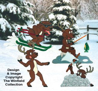 Reindeer Games Woodcraft Pattern